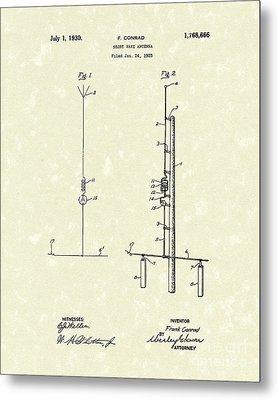Antenna 1930 Patent Art Metal Print by Prior Art Design