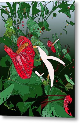 Anthuriums Metal Print by Stacy Vosberg