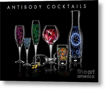 Metal Print featuring the digital art Antibody Cocktails by Megan Dirsa-DuBois