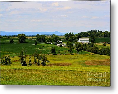 Antietam Battlefield And Mumma Farm Metal Print by Patti Whitten