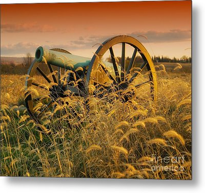 Metal Print featuring the photograph Antietam Maryland Cannon Battlefield Landscape by Paul Fearn