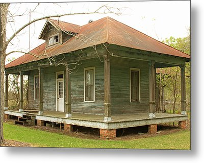 Antique And Abandoned House Metal Print by Ronald Olivier