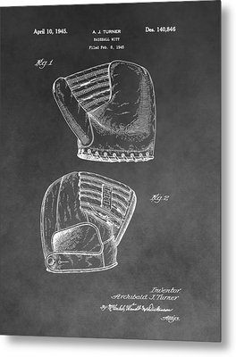 Antique Baseball Mitt Metal Print by Dan Sproul