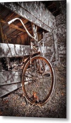 Antique Bicycle Metal Print by Debra and Dave Vanderlaan