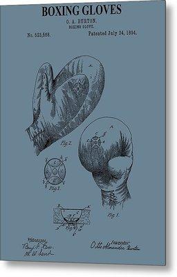 Antique Boxing Gloves Patent Metal Print