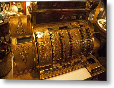 Metal Print featuring the photograph Antique Cash Register by Jerry Cowart