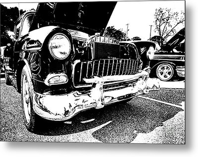 Antique Chevy Car At Car Show Metal Print by Danny Hooks