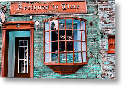Antique Clock Shop Metal Print by Nina Silver