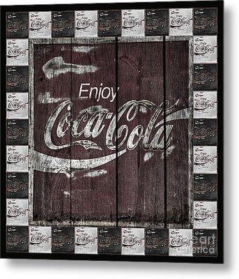 Antique Coca Cola Signs Metal Print by John Stephens