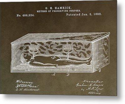 Antique Coffin Patent Metal Print