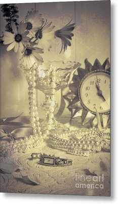 Antique Dressing Table Metal Print by Amanda Elwell
