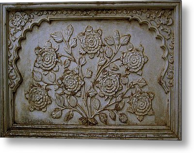 Antique Flowers Metal Print