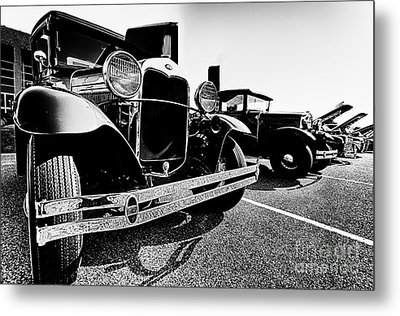Antique Ford Car At Car Show Metal Print by Danny Hooks