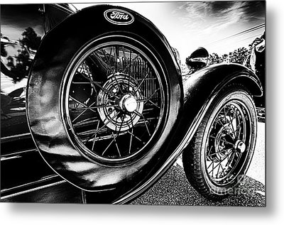 Antique Ford Car Metal Print by Danny Hooks