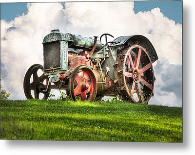Antique Fordson Tractor - Americana Metal Print by Gary Heller