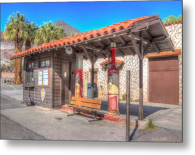 Antique Gas Station Metal Print by Heidi Smith