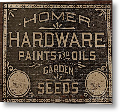 Antique Homer Hardware Metal Print