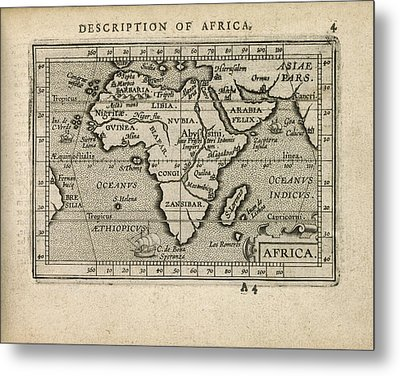 Antique Map Of Africa By Abraham Ortelius - 1603 Metal Print by Blue Monocle