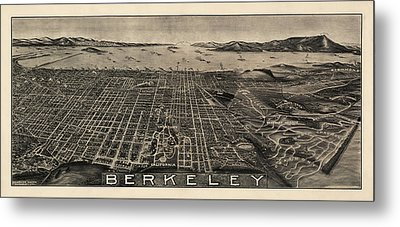 Antique Map Of Berkeley California By Charles Green - Circa 1909 Metal Print