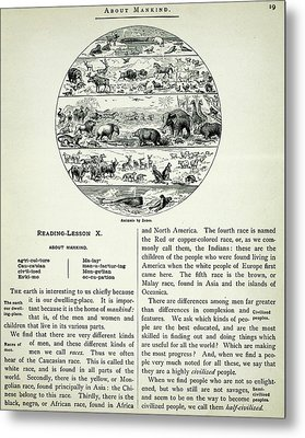 Antique Map Of Fauna By Zone Metal Print by Celestial Images