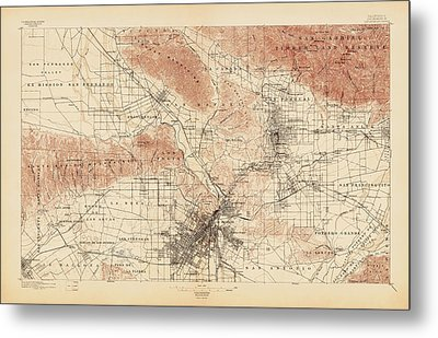 Antique Map Of Los Angeles Usgs Topographic Map Drawing - Los angeles topographic map