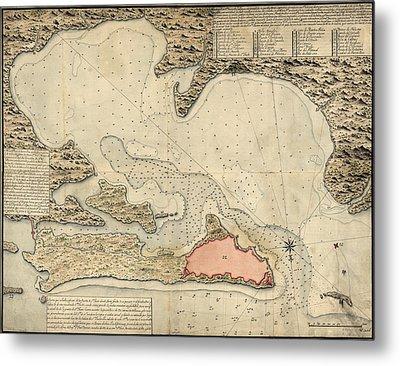 Antique Map Of San Juan Puerto Rico By Jose Montero De Espinosa - 1785 Metal Print by Blue Monocle