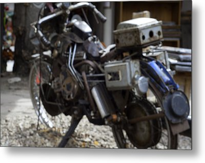 Antique Motorcycle  Metal Print by Brett Roberts