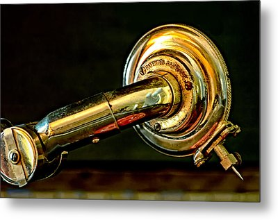 Antique Phonograph Tonearm Metal Print by Stephen Anderson