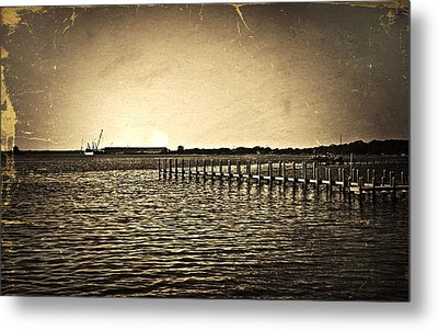Metal Print featuring the photograph Antique Photo Of Pier  by Susan Leggett