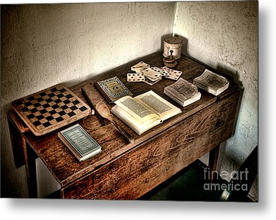 Antique Play Desk Metal Print by Olivier Le Queinec