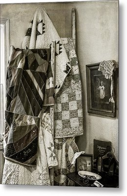 Antique Quilts Metal Print by Wayne Meyer