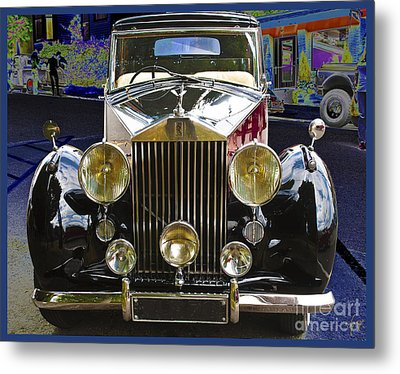Metal Print featuring the digital art Antique Rolls Royce by Victoria Harrington