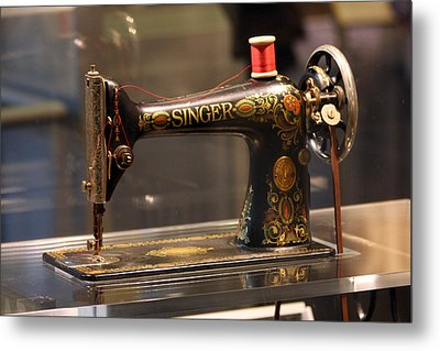 Antique Sewing Machine  Metal Print by Vadim Levin