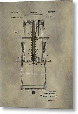 Antique Shock Absorber Patent Metal Print
