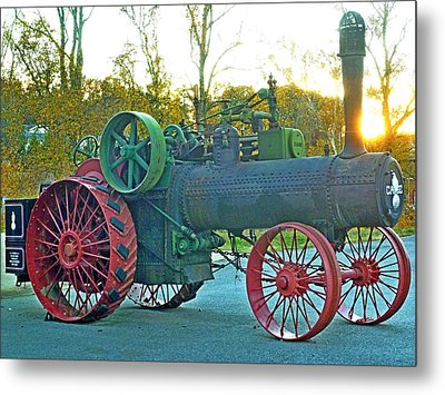 Antique Steam Tractor Metal Print