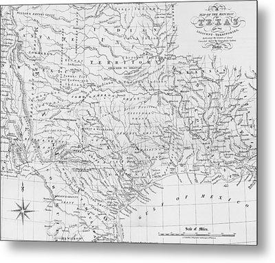 Antique Texas Map Metal Print