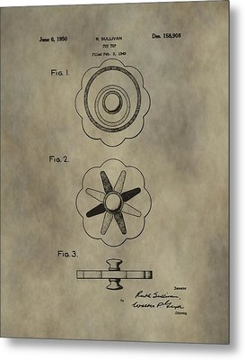 Antique Toy Top Patent Metal Print