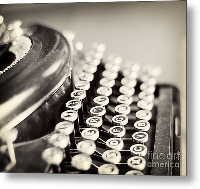 Antique Typewriter Metal Print