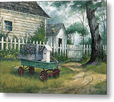 Antique Wagon Metal Print by Michael Humphries