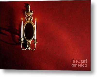 Antique Wall Sconce Metal Print by Olivier Le Queinec