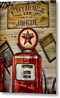 Antiques And Junque Metal Print by Heather Applegate