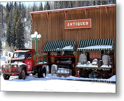 Antiques In The Mountains Metal Print by Fiona Kennard