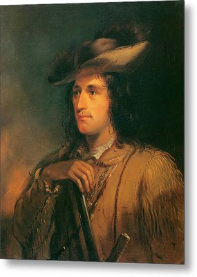 Antoine Clement The Great Hunter Metal Print by Alfred Jacob Miller