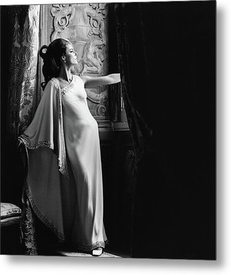 Antonella Agnelli In The Palazzo Doria In Rome Metal Print