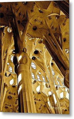 Antoni Gaudi Rythmes   Metal Print