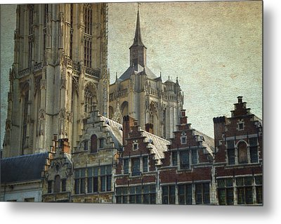 Antwerp Skyline Metal Print by Joan Carroll