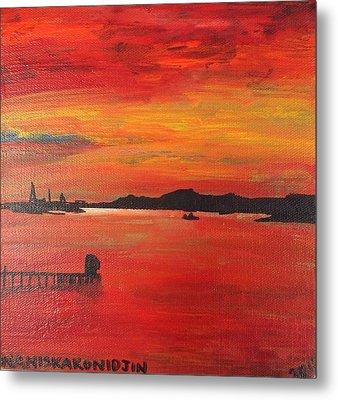 Aotearoa Sunset 1 Metal Print