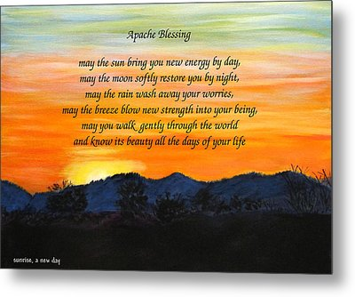 Apache Blessing-sunrise Metal Print
