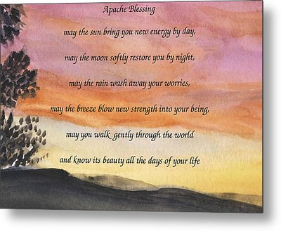 Apache Blessing With Sunset Metal Print