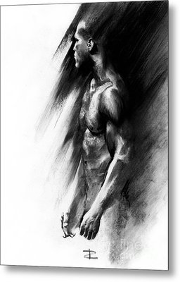 Metal Print featuring the drawing Apart by Paul Davenport